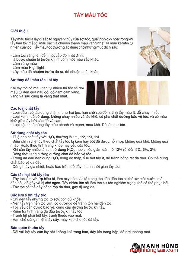 tẩy màu tóc